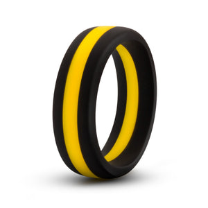 Performance - Silicone Go Pro Cock Ring -  Black/gold/black - Adultys.com