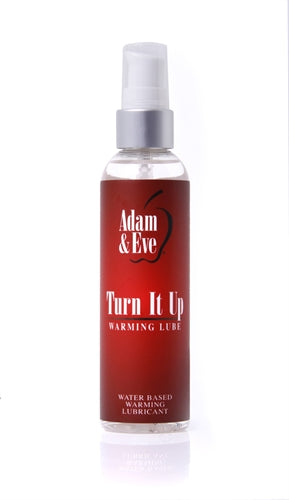 Adam and Eve Turn It Up Warming Lubricant 4 Oz - Adultys.com