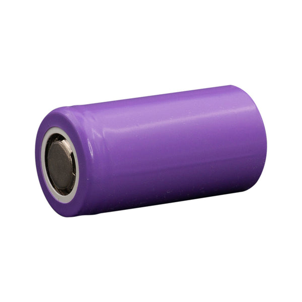 Small purple battery with silver ends