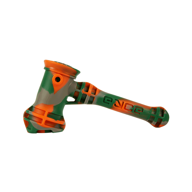 neon orange and green hammer pipe