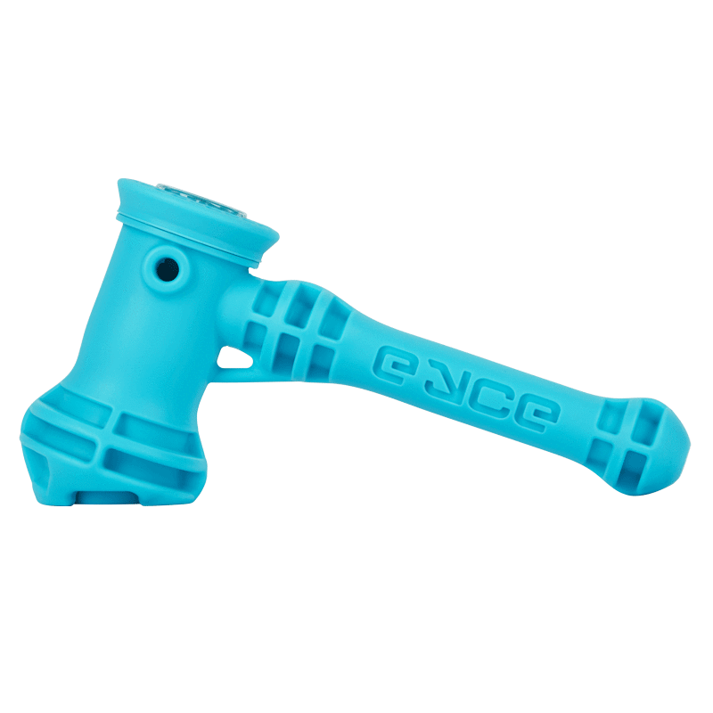 Bright neon blue hammer-styled pipe