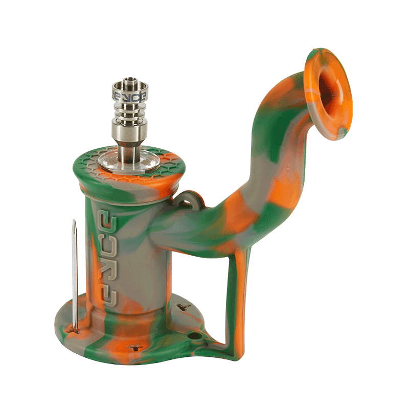 Orange, green and grey rig for concentrates