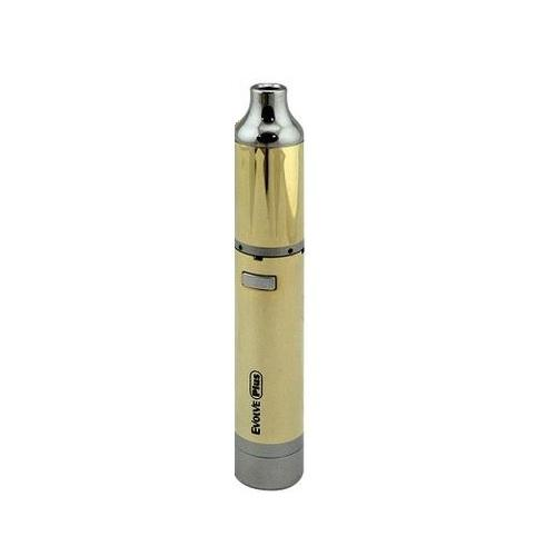 Shiny gold tube with mouthpiece