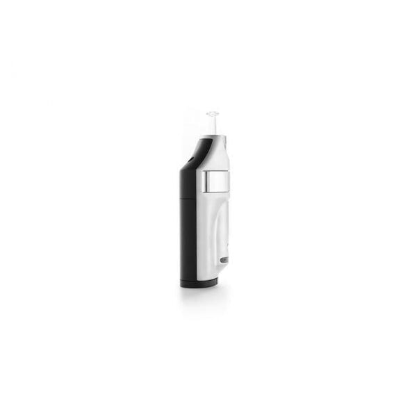 Side view of black and silver vaporizer