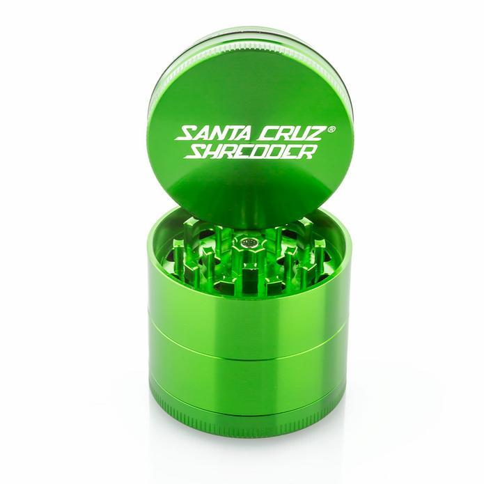 Bright green metallic grinder