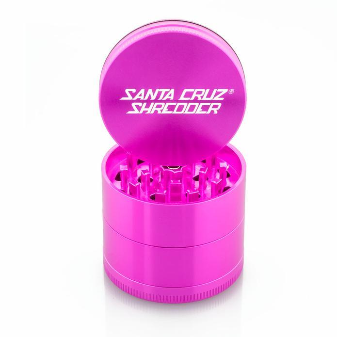 Pink grinder against white background