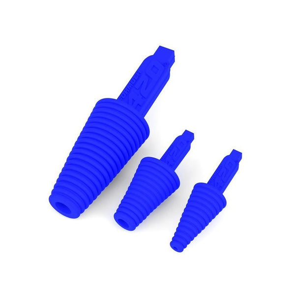 Multi-sized blue cleaning plugs