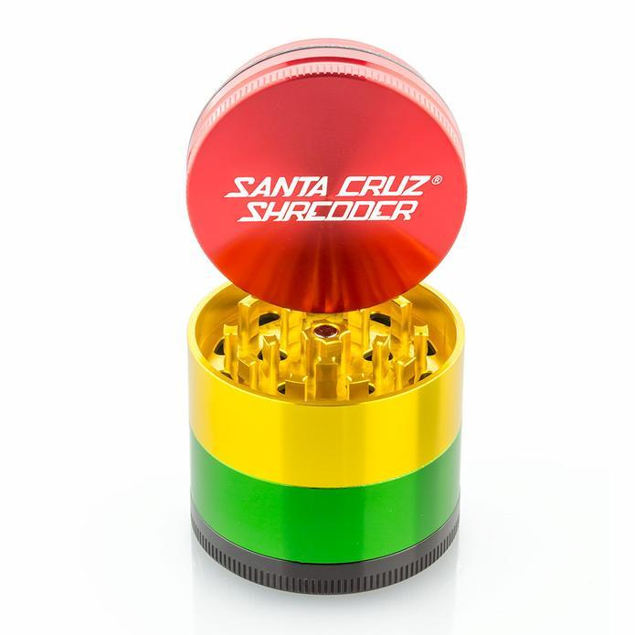 Multicolored grinder with red top