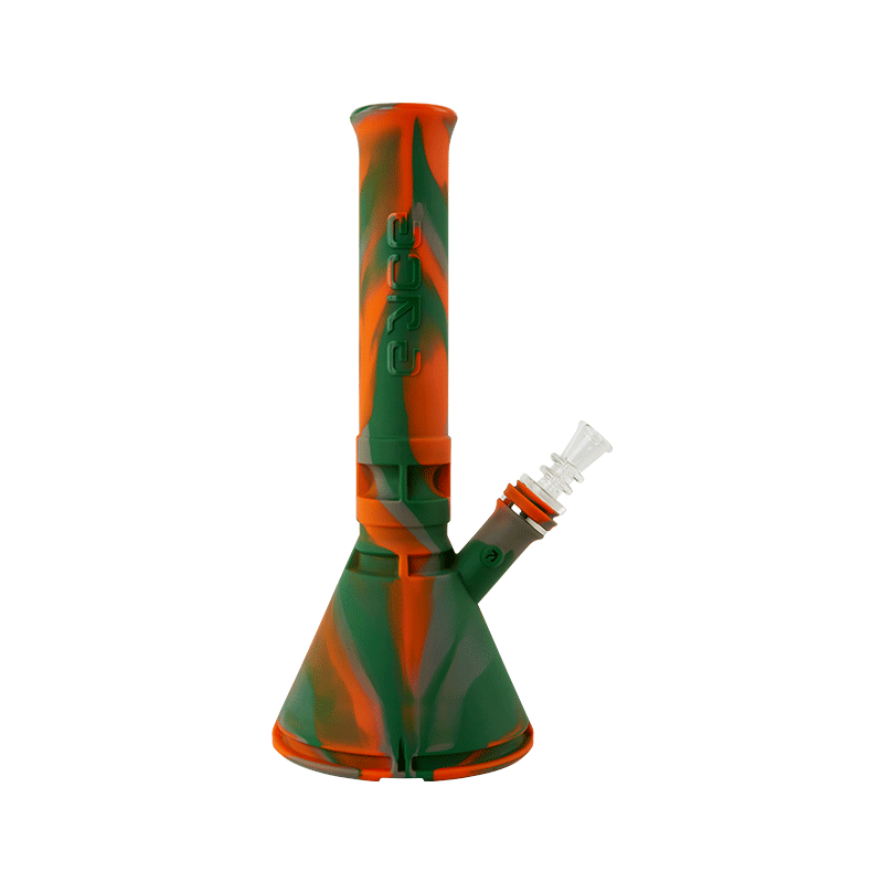 tall orange and green patterned vape