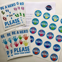Load image into Gallery viewer, Back to school: x6 'Be a Hero' Posters & 20 Hero Stickers