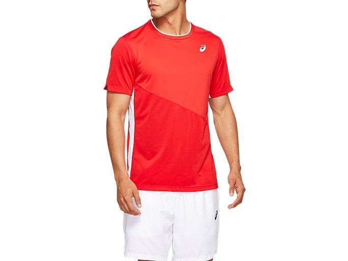 Asics Club Tee Heren Red