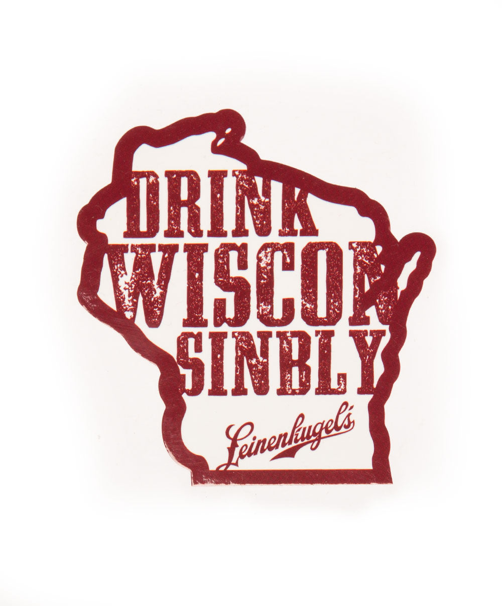 DRINK WISCONSINBLY RED STICKER