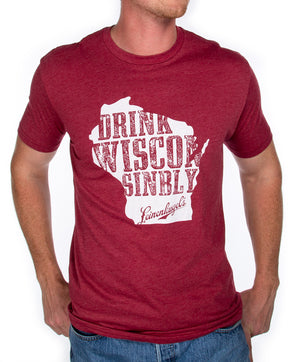 1 SIDE DRINK WISCONSINBLY TEE