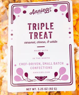 TRIPLE TREAT GOURMET POPCORN