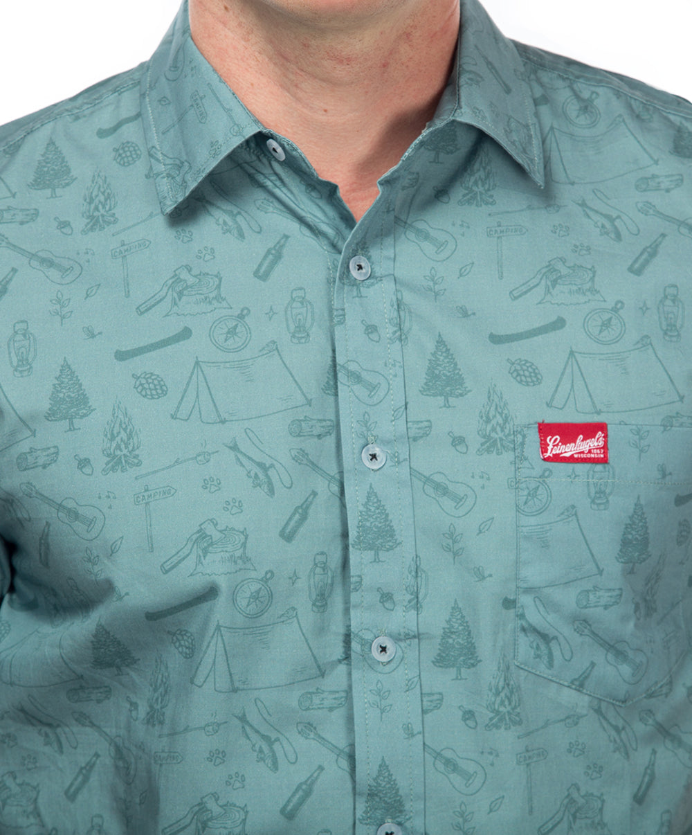 NASH CAMP PRINT BUTTON DOWN