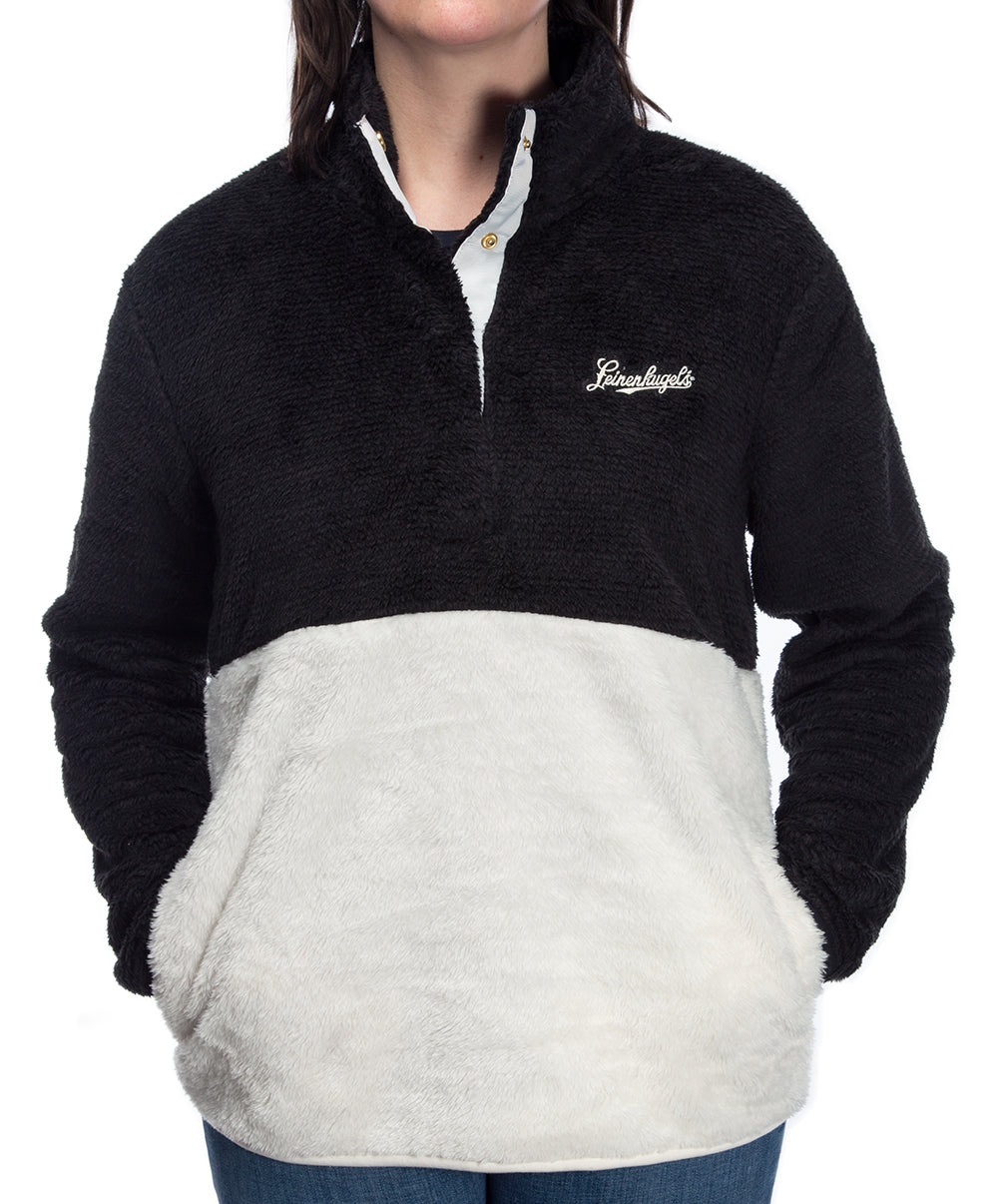 LADIES SNAP FUZZY PULLOVER