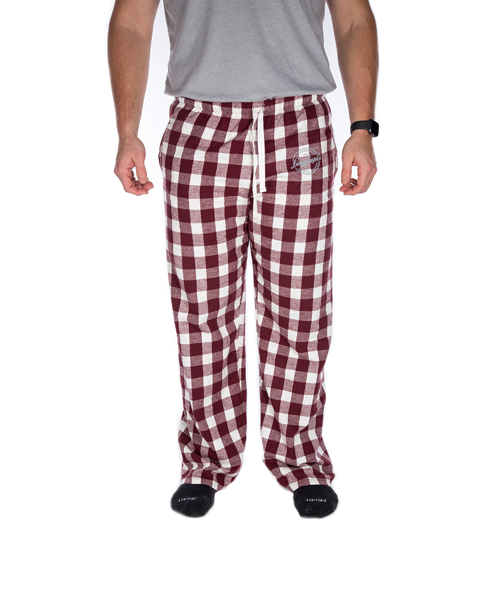 HOLIDAY MAROON FLANNEL PANTS