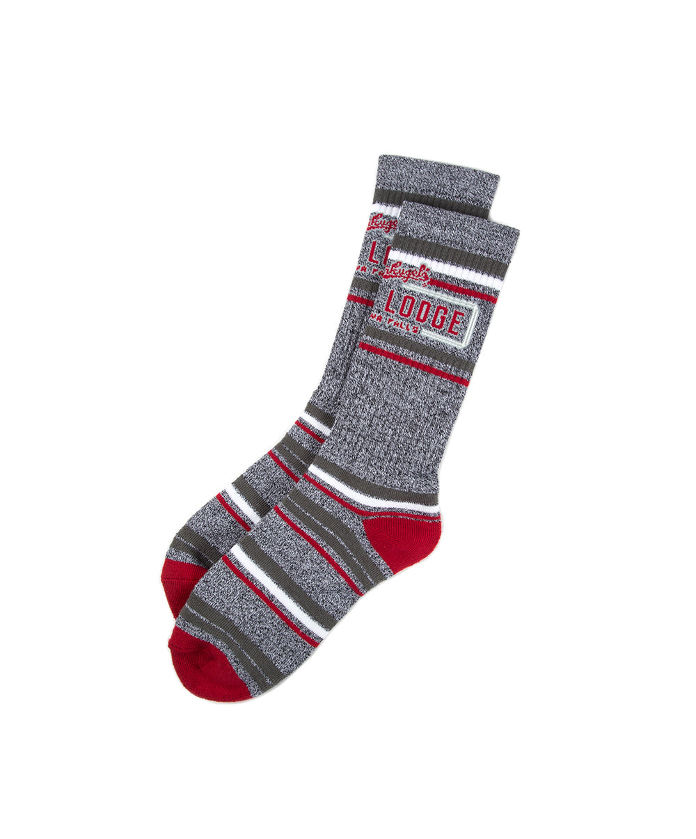 LEINIE LDG VARIED STRIPE SOCKS