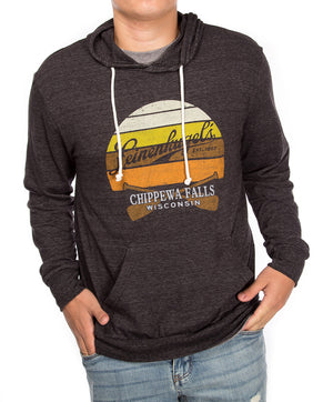 SUNSET TRIBLEND HOODED LS TEE