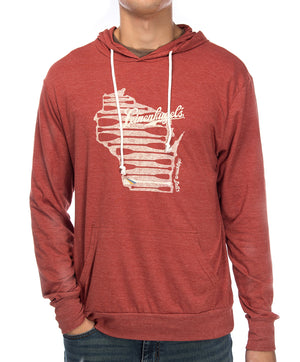 PIKE WISCONSIN HOODED LS TEE