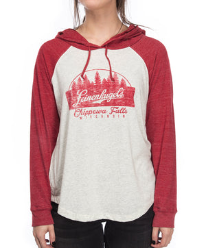 LADIES POPPY HOODED LS TEE