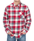 PLAID FLANNEL BUTTON UP