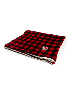 BUFFALO PLAID SHERPA BLANKET