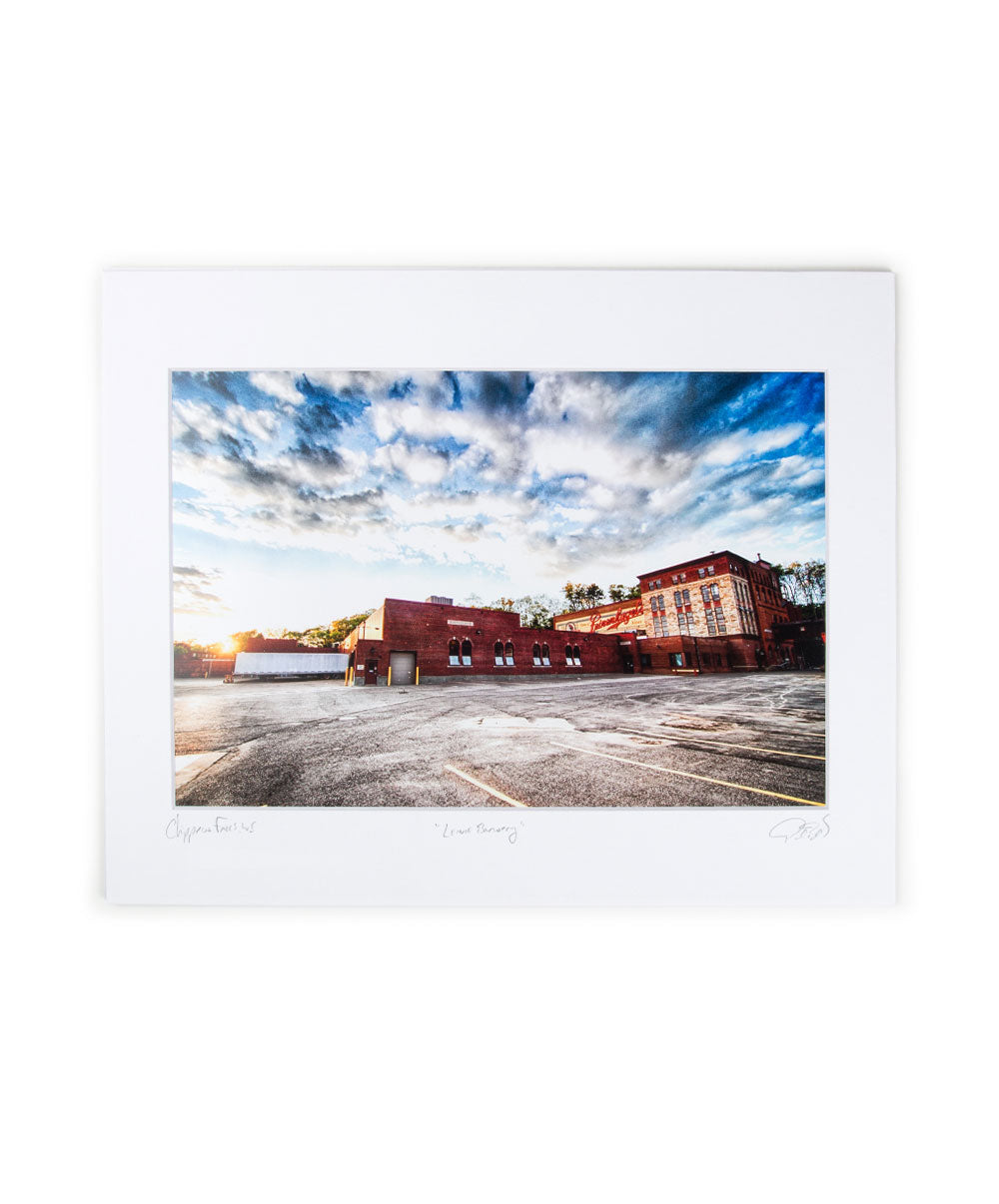 8X12 MATTED BREWERY SUNRISE