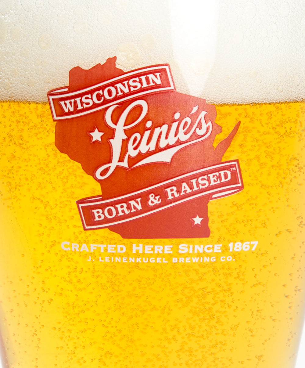 16 OZ WI BORN & RAISED GLASS