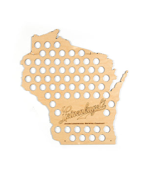 WISCONSIN BOTTLECAP MAP