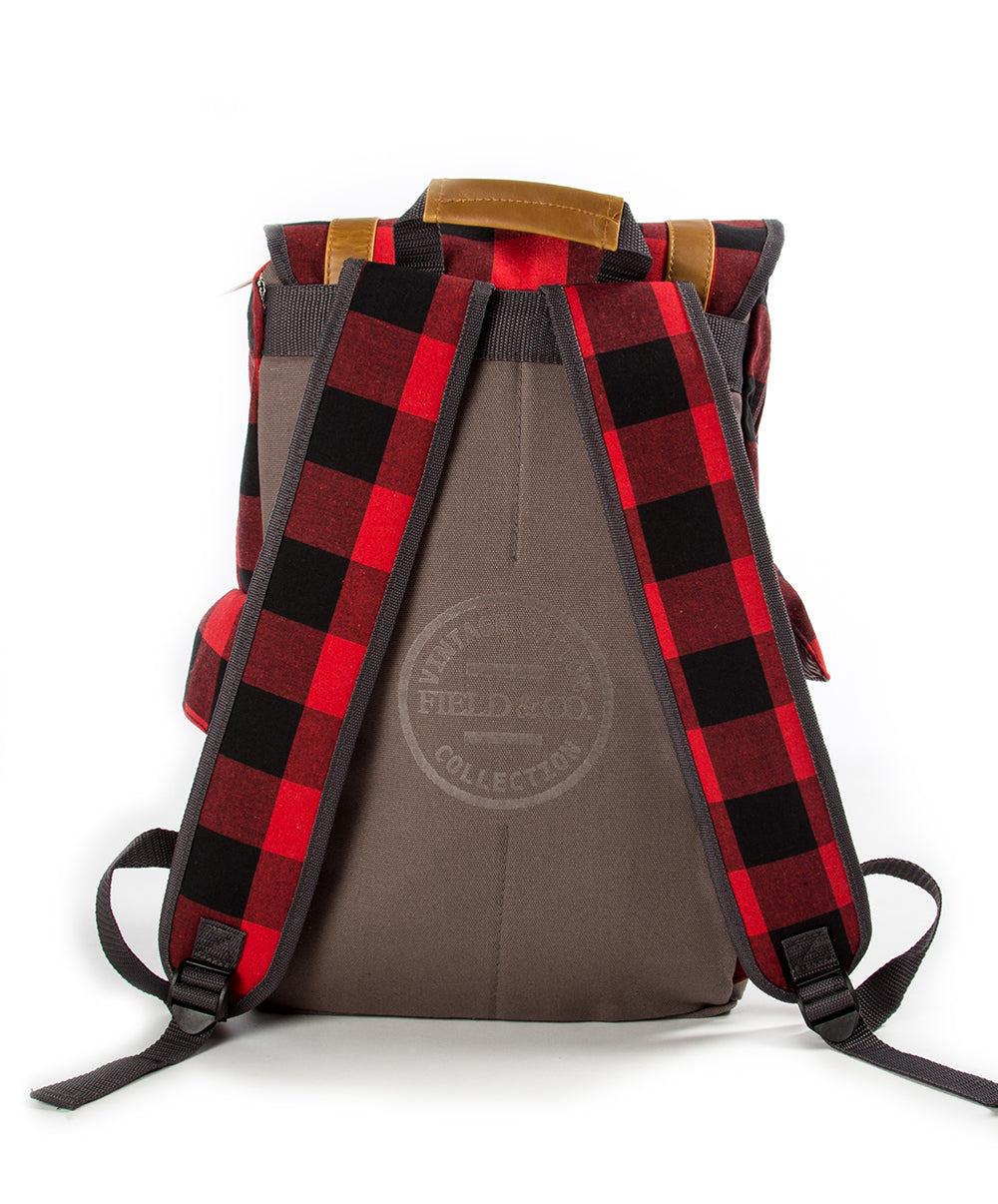 LEINIE PLAID CAMPSTER BACKPACK