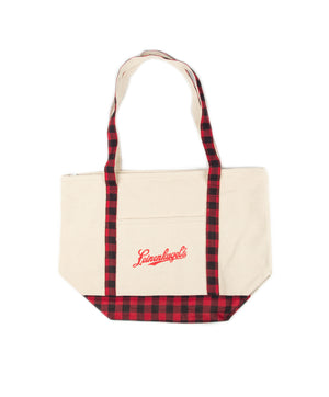PLAID CANVAS TOTE