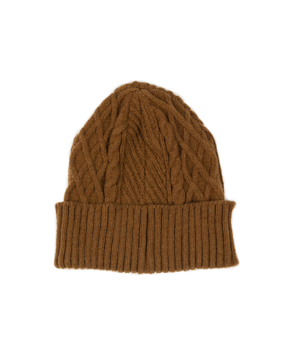 SAUL CABLE KNIT BEANIE