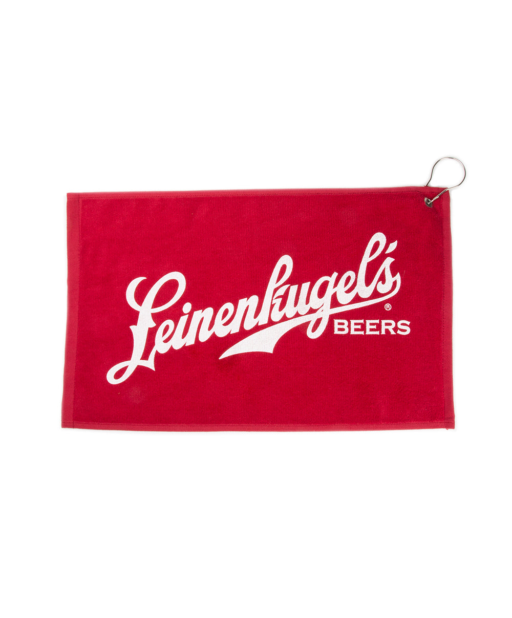 RED SCRIPT GOLF TOWEL