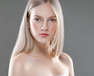 Platinum Blonde #90 Deluxe Clip-in hair extensions