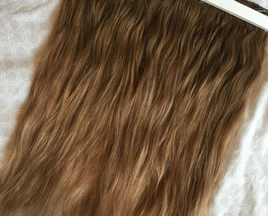 Medium Brown to light blonde Ombre Clip-in hair extensions