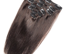 Load image into Gallery viewer, Chocolate Brown #4 Deluxe Clip-in hair extensions