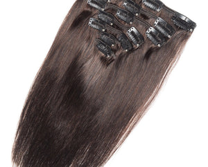 Chocolate Brown #4 Deluxe Clip-in hair extensions