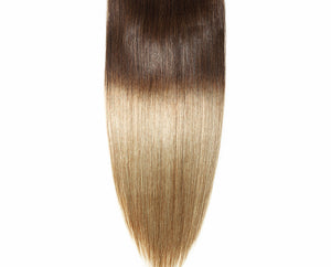 Medium Brown/Golden Blonde Ombre Clip-in hair extensions