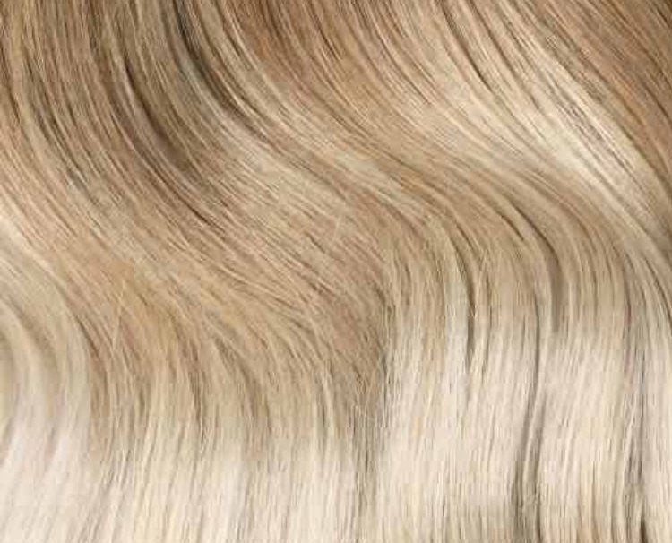 Ash Brown/Platinum Blonde Ombre Clip-in hair extensions