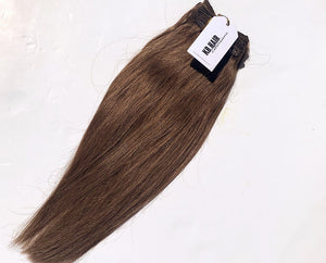 Medium Brown #6 Deluxe Clip-in hair extensions