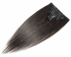 Darkest Brown #2 Deluxe Clip-in hair extensions