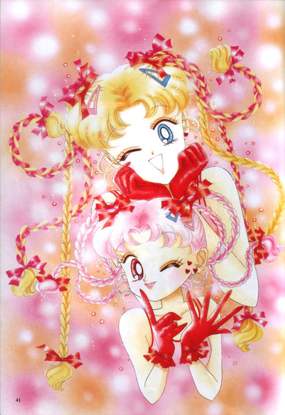 Sailor Moon and Sailor Chibi Moon Manga Art