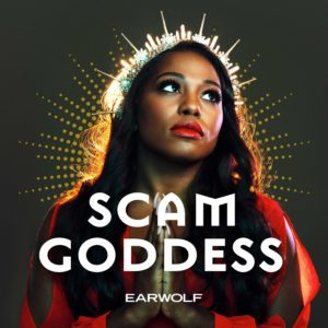 Scam Goddess podcast logo.