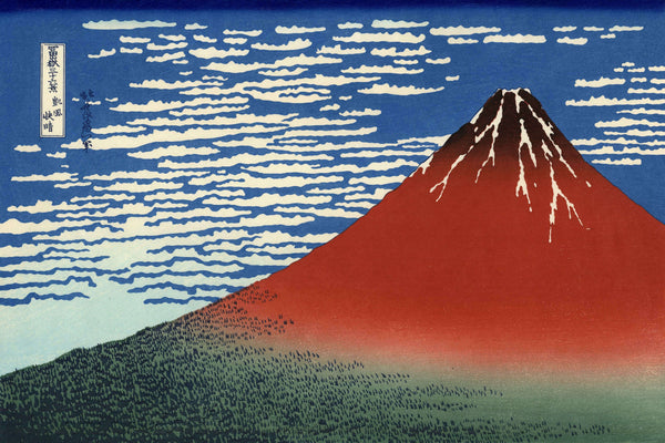 Hokusai's red Fuji, fine wind clear morning.