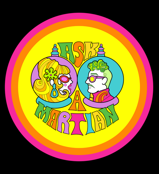 Ask a Martian podcast logo.