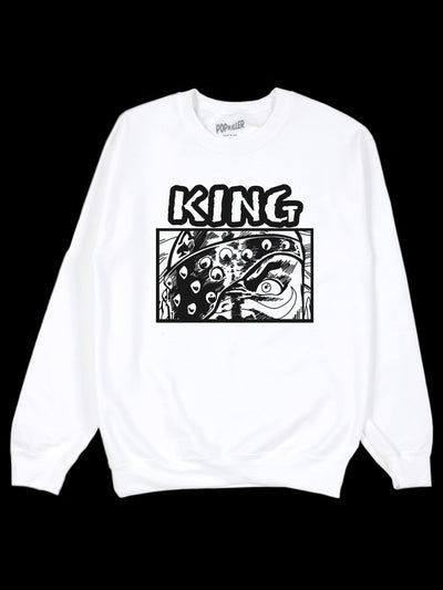 Vintage manga art graphic sweater.