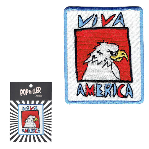 Embroidey patch viva america eagle