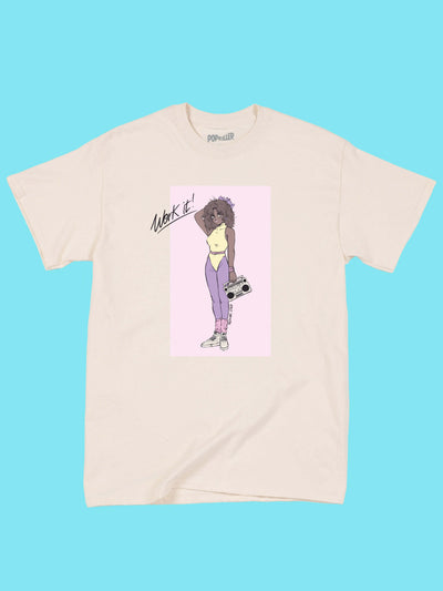 Pastel kawaii 80s anime girl tee.