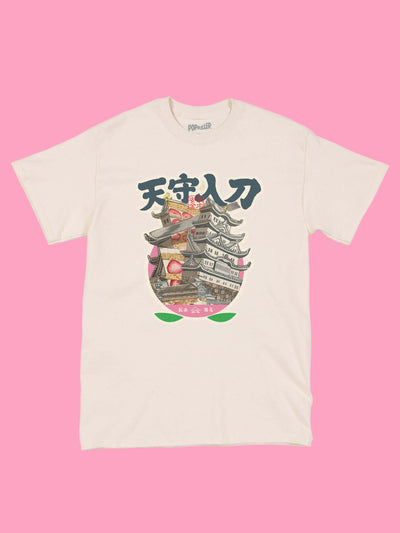 Edo castle graphic tee by Japanese artist Anraku.